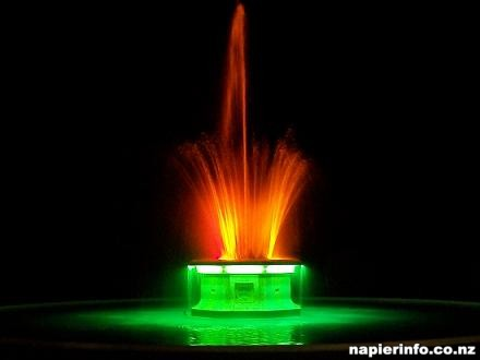 Tom Parker Napier Fountain at Night